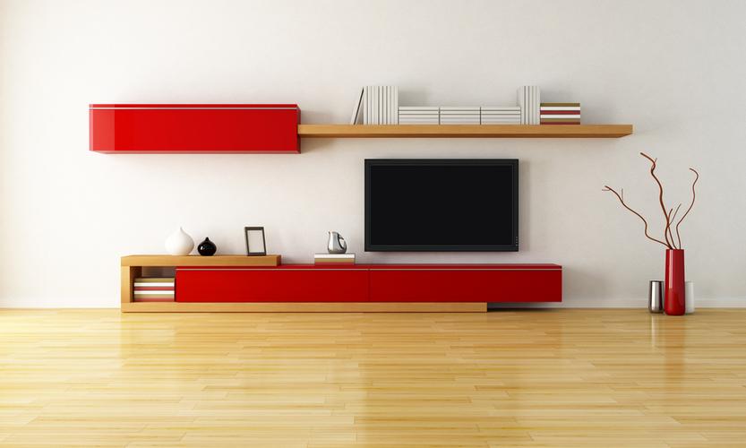 Sala ampla mobiliada