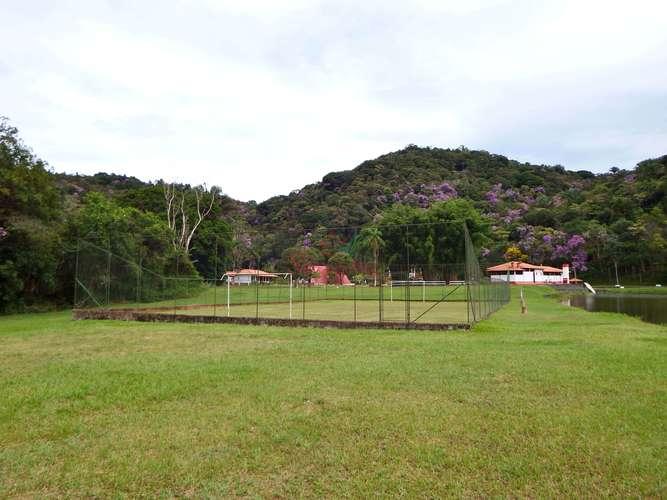 Campo de futebol gramada