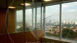 Sala comercial com divisórias para locação na Vila Olímpia - 451 m²