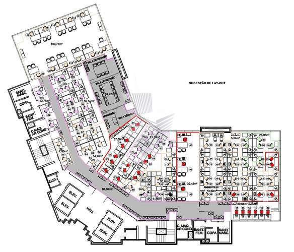 Sala comercial corporativa Pinheiros/Faria Lima - metrô - locação - 1.550 m²