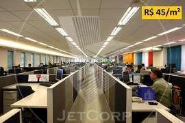 Laje corporativa próxima ao metrô - locação - 3.163 m² (BOMA) -R$ 45/m² - metrô