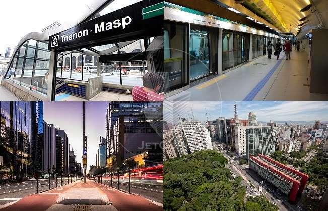 Conjunto comercial corporativo na Paulista - metrô - Triple A - 2.219 m² Locação.
