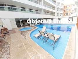 Apartamento linear, 3 quartos, 2 vagas, à 500 metros da Praia do Forte, Passagem - Cabo Frio