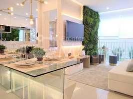 Apartamentos de 2 dormitórios com 43 m² e varanda gourmet, entregue com piso em todo o apartamento
