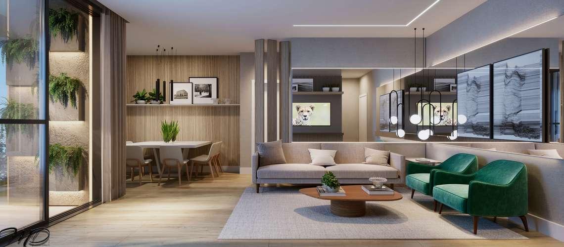 Apartamentos à venda 2 ou 3 Quartos (1 Suíte), Centro Alto Padrão - Bosco Centrale - Curitiba